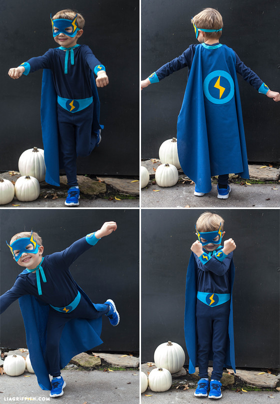 Superhero Costume DIY  Homemade Halloween Costumes Superheros