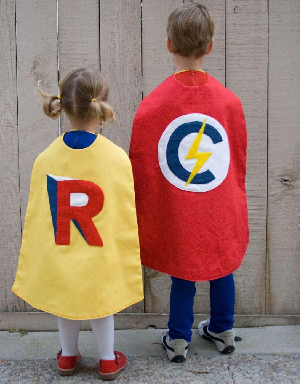 Superhero Costume DIY  Homemade Superhero Costumes Delightful DIY Capes for Kids