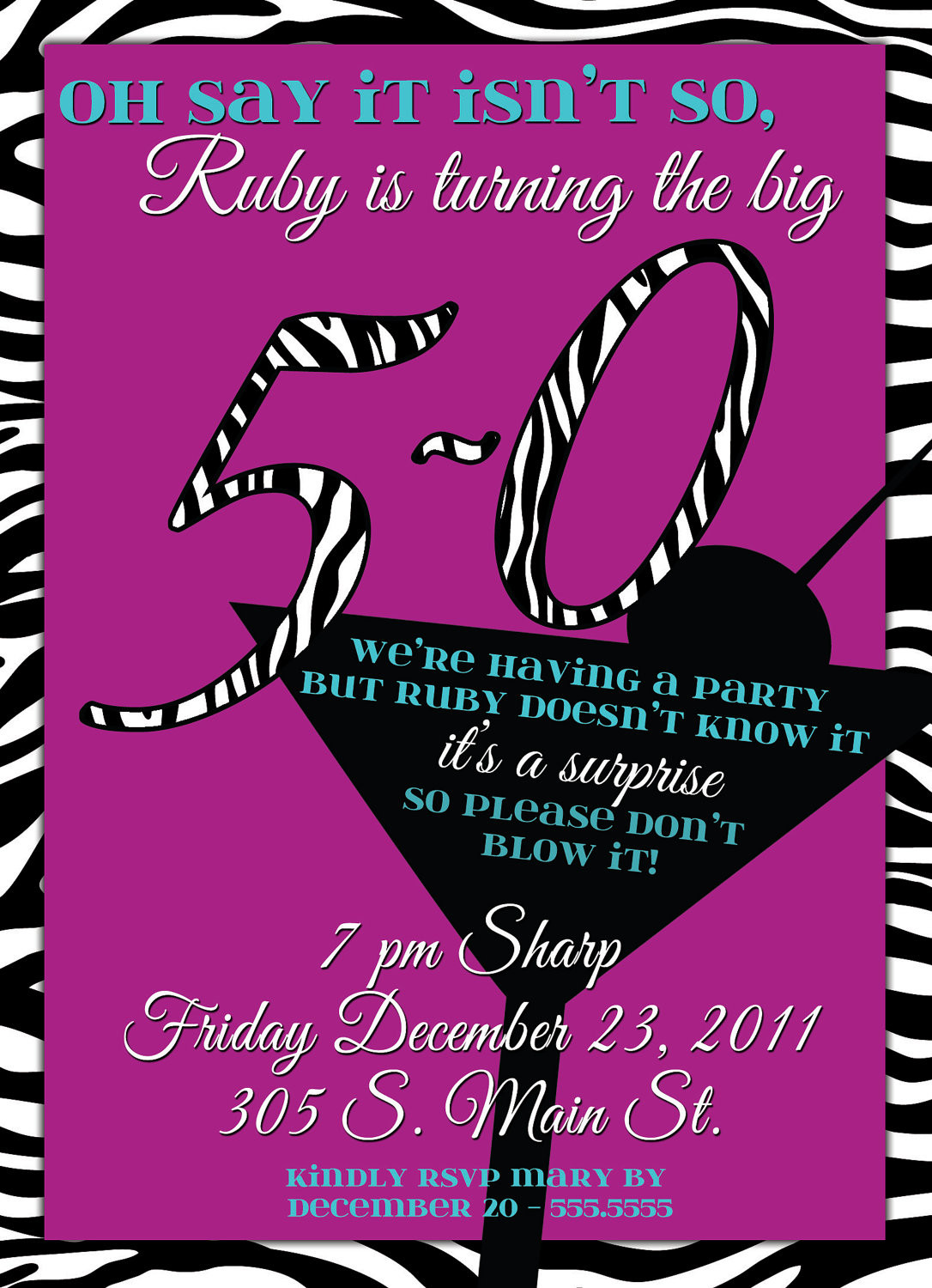 Surprise 50Th Birthday Party Ideas  Surprise 50th Birthday Party Invitations