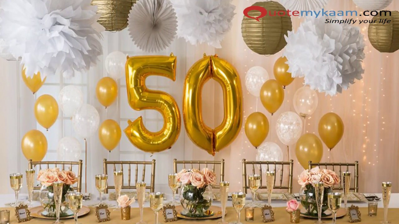 Surprise 50Th Birthday Party Ideas  50th Birthday Celebration Ideas for a Memorable Bash