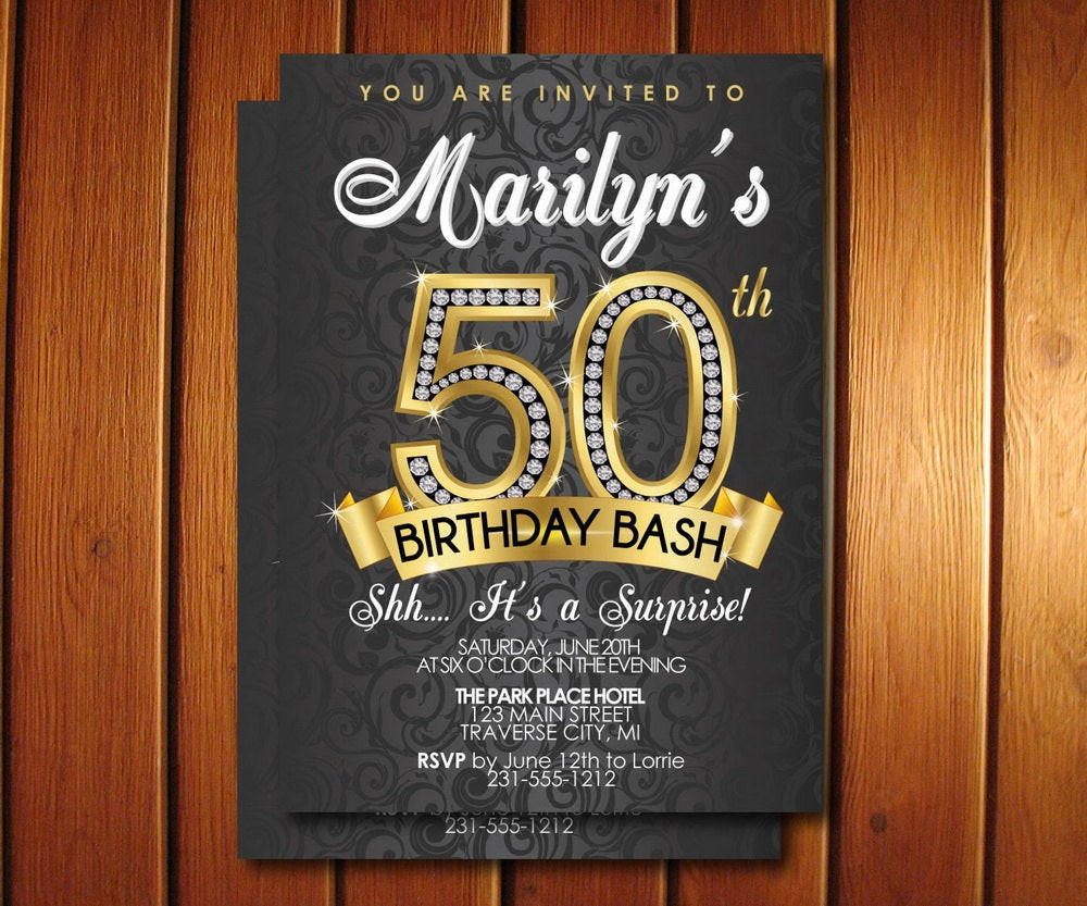 Surprise 50Th Birthday Party Ideas  Surprise 50th Birthday Party Invitations 50th Birthday