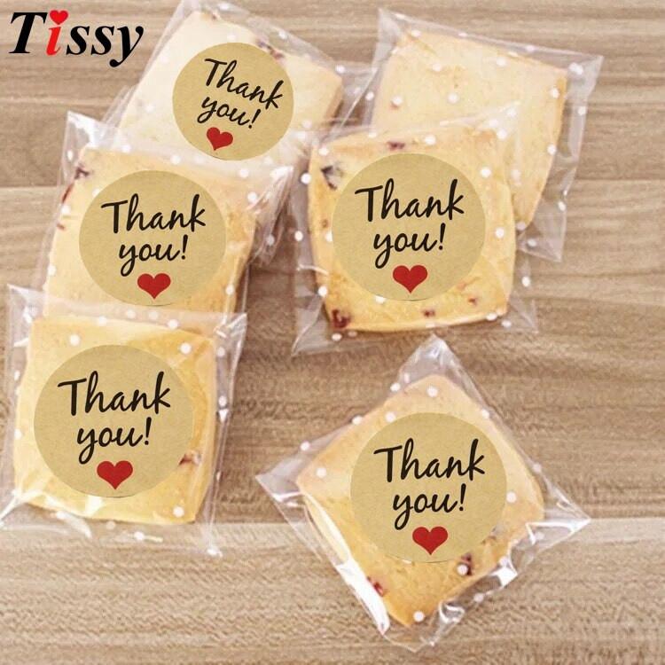 Thank You Wedding Gift Ideas  120PCS Thank You Kraft Stickers Paper Gift Tags Wedding