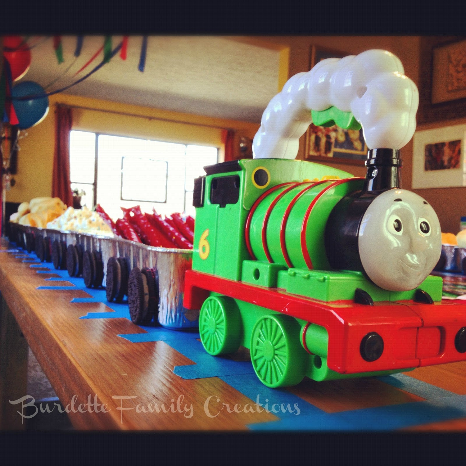 Thomas The Train Birthday Decorations  Burdette Family Creations Thomas the Train Birthday Party