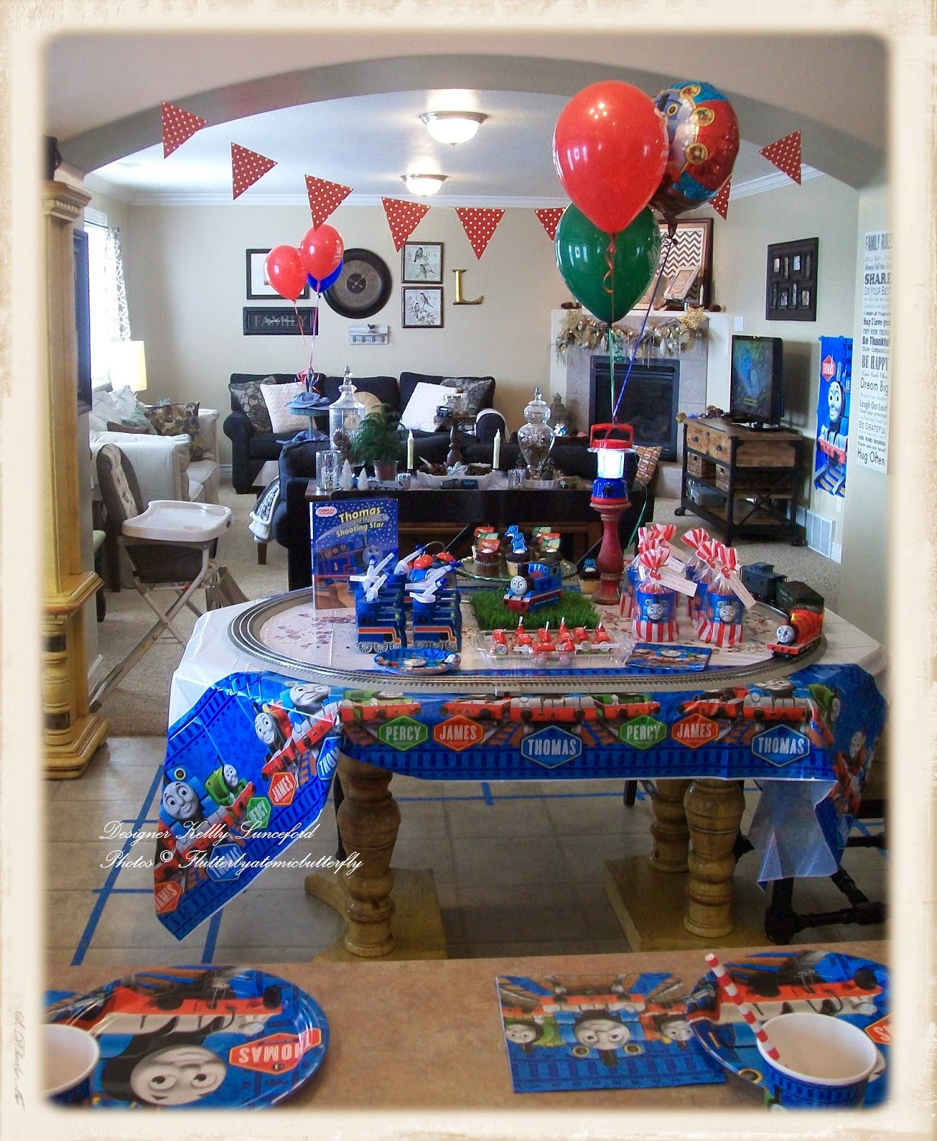 Thomas The Train Birthday Decorations  Flutter by Atomicbutterfly Thomas the Tank Engine 5th