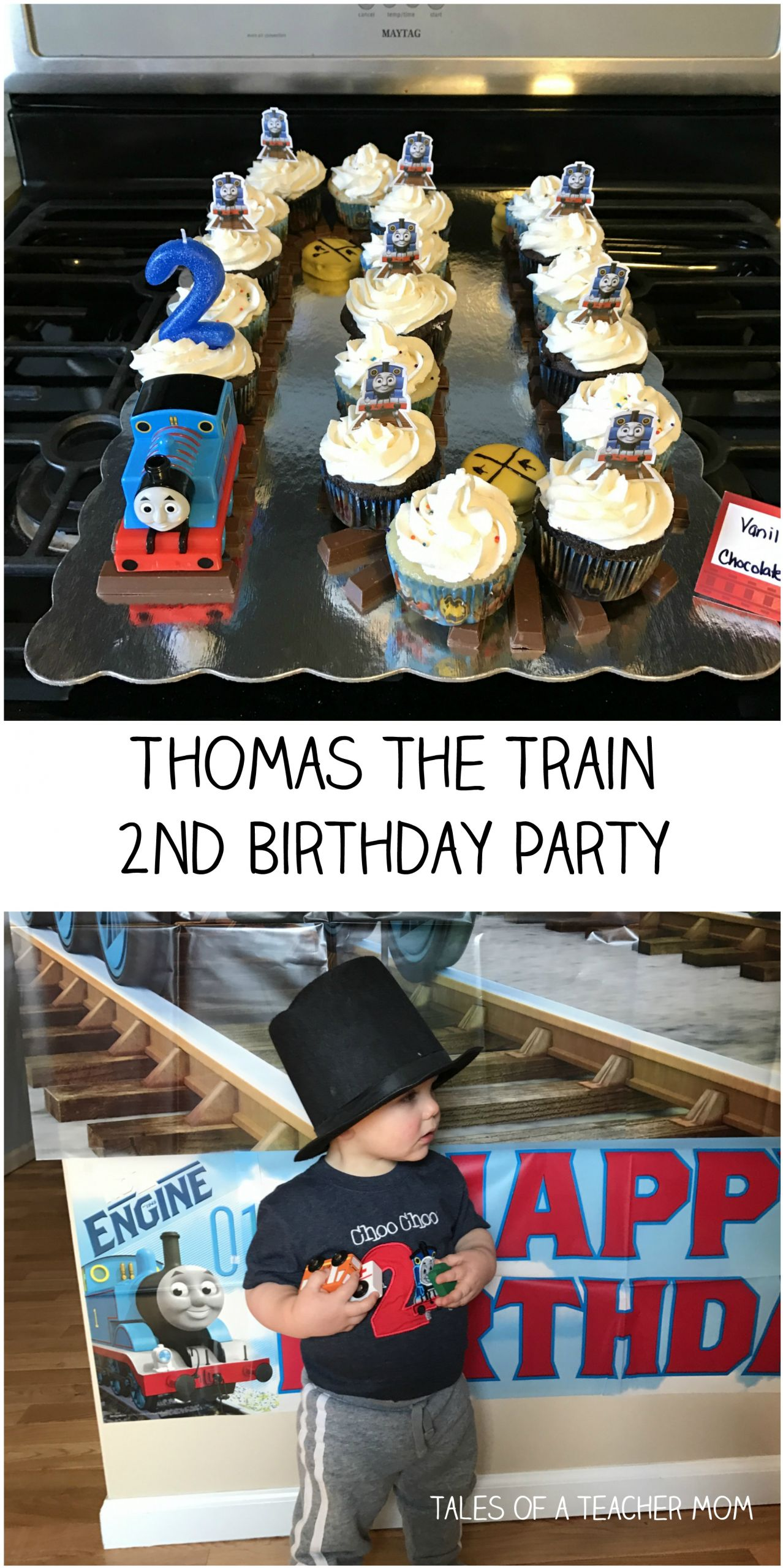 Thomas The Train Birthday Decorations  Thomas the Train 2nd Birthday Party Tales of a Teacher Mom