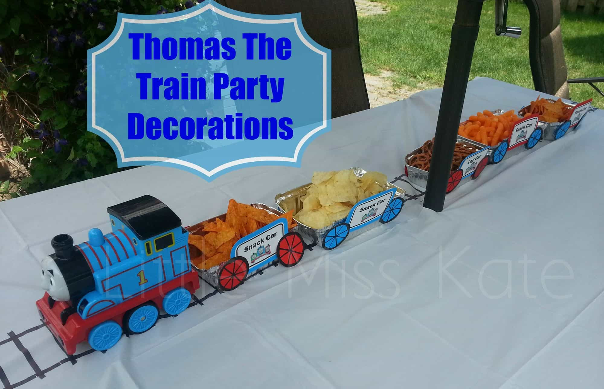 Thomas The Train Birthday Decorations  Thomas The Train Party Decorations Little Miss Kate