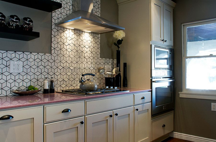 Tile Backsplash Kitchen  25 Creative Geometric Tile Ideas That Bring Excitement to