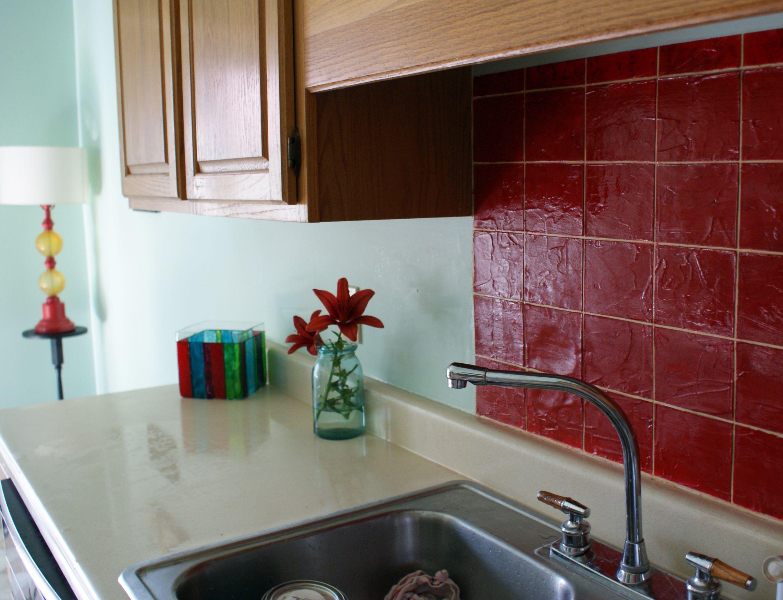 Tile Backsplash Kitchen  Faux Tile Kitchen Backsplash