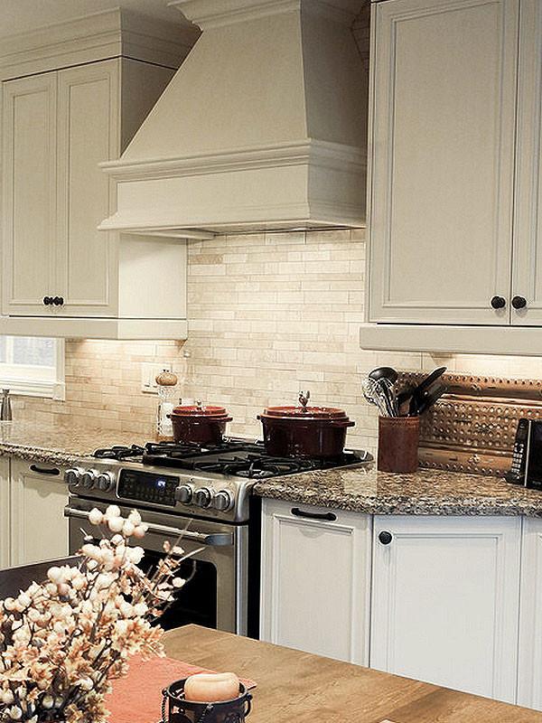 Tile Backsplash Kitchen  Light ivory Travertine Kitchen Subway Backsplash Tile
