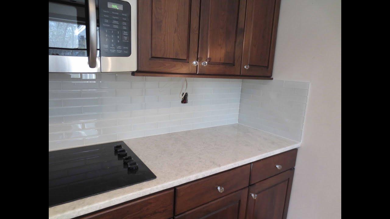 Tile Backsplash Kitchen  How to install Glass tile Kitchen Backsplash