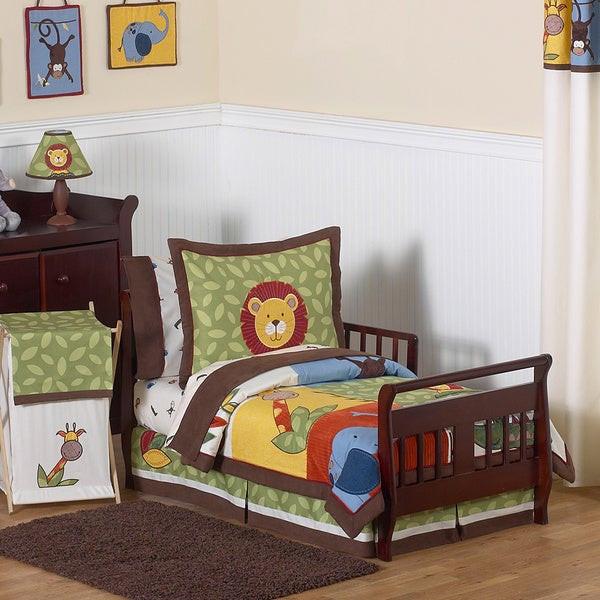 Toddler Bedroom Set For Boys  Shop Sweet Jojo Designs Boy 5 piece Jungle Time Toddler