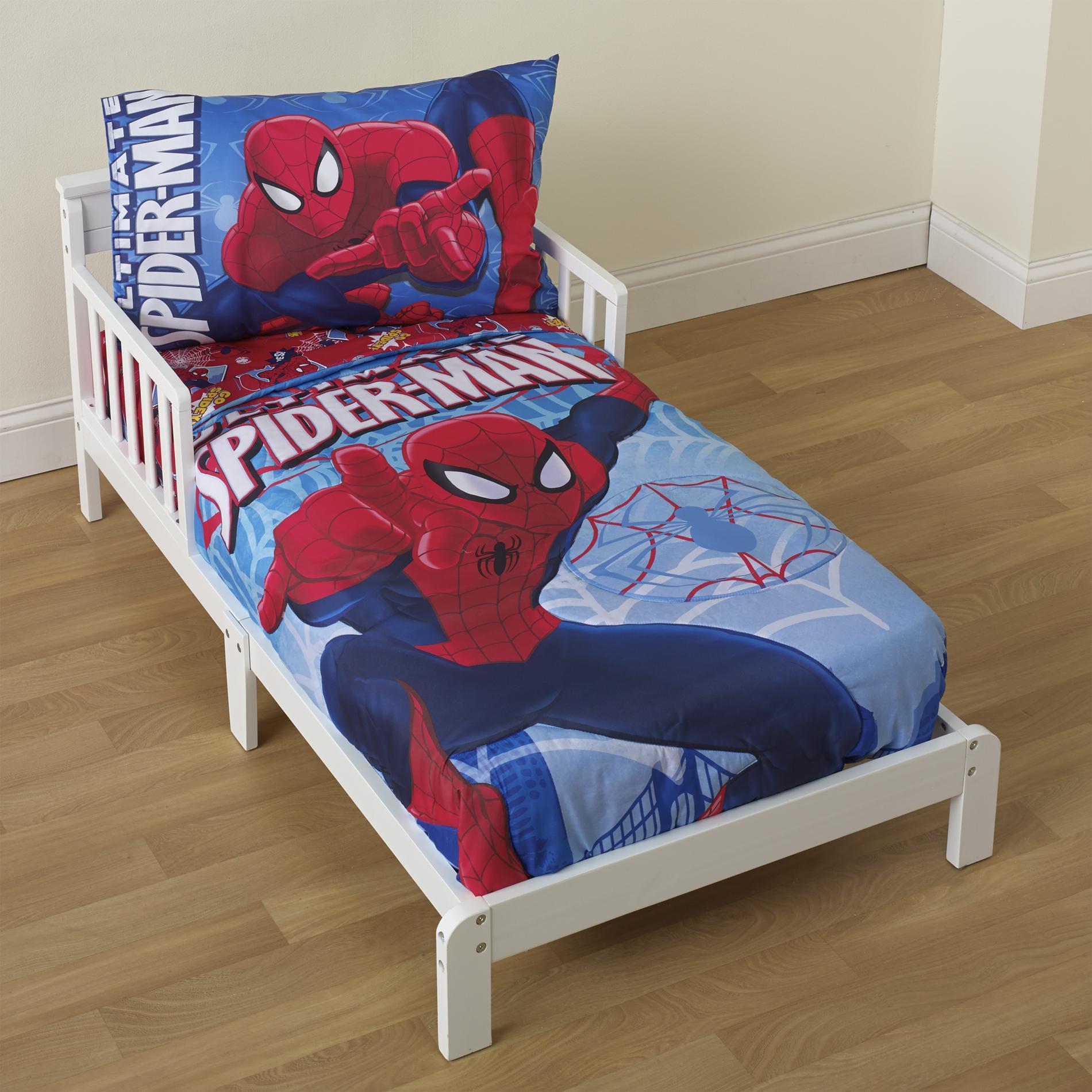 Toddler Bedroom Set For Boys  Marvel Toddler Boy s 4 Piece Bedding Set Baby Baby