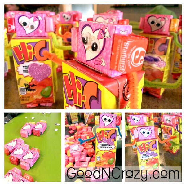 Toddler Valentines Day Gift Ideas  Robot DIY Valentine t idea Easy but not super cheap