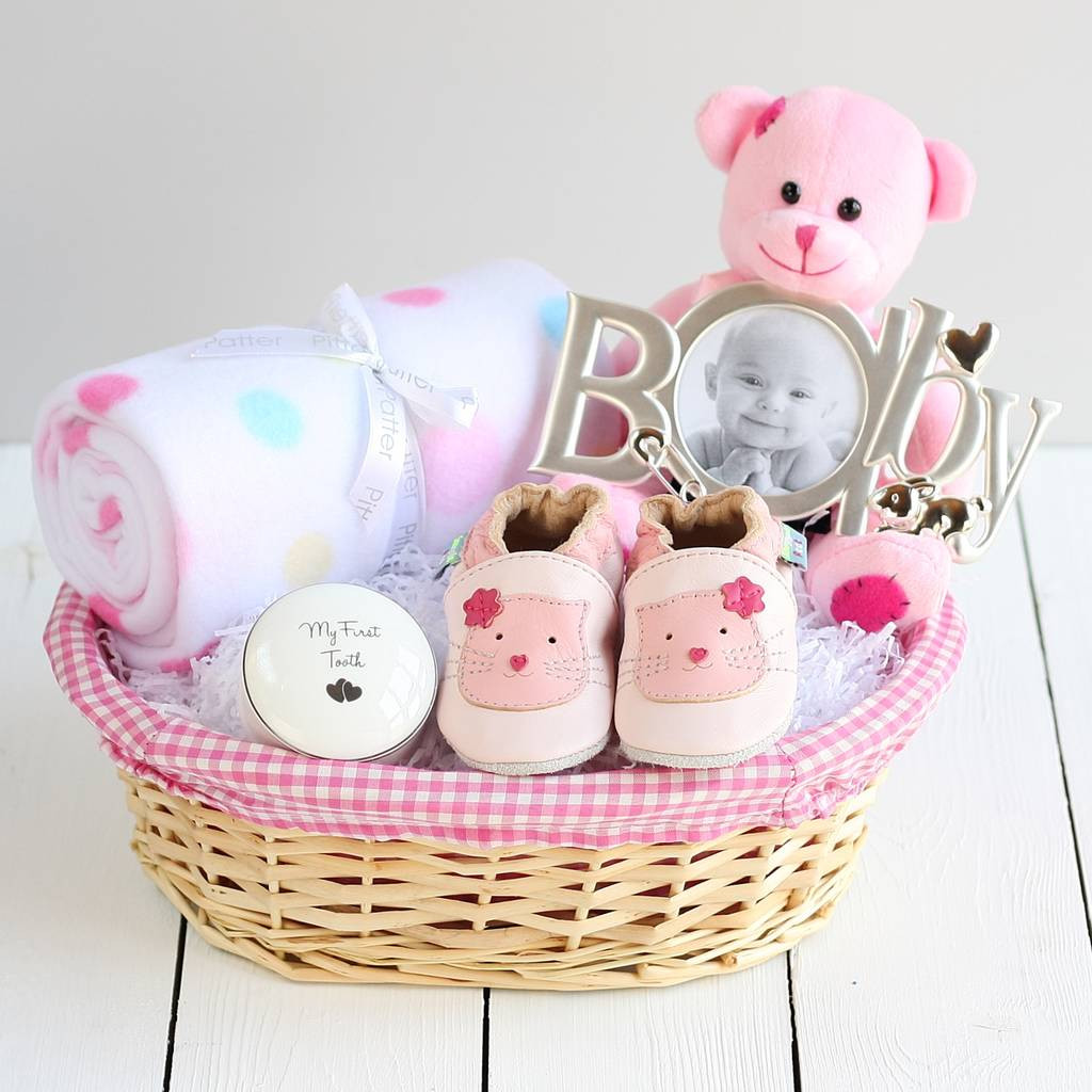 Top Baby Girl Gifts  deluxe girl new baby t basket by snuggle feet