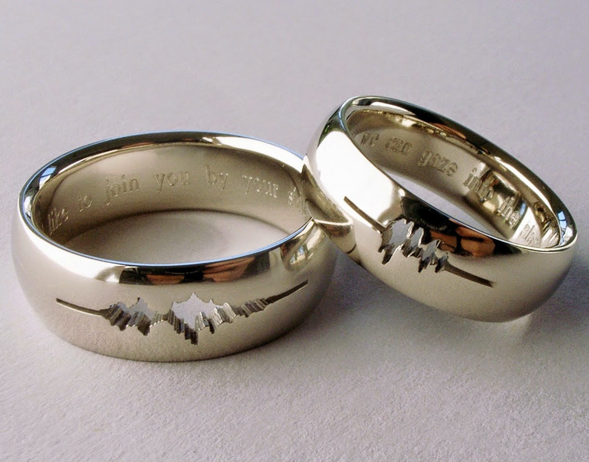Traditional Wedding Bands  5 Non traditional Men's Wedding Bands