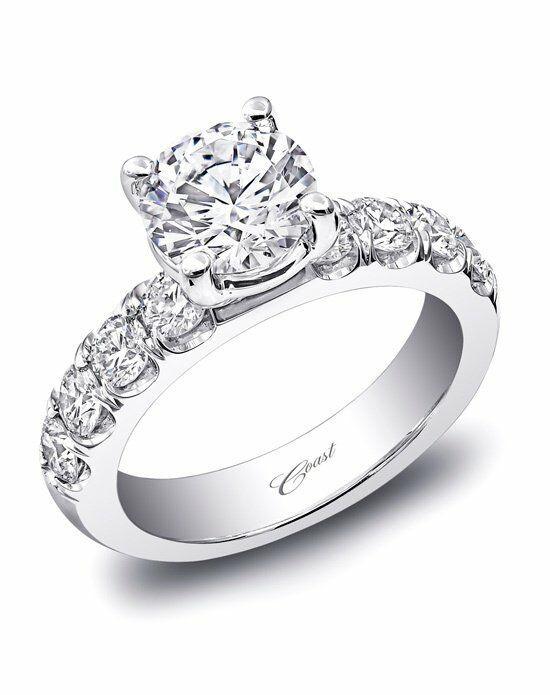 Traditional Wedding Bands  Coast Diamond Traditional Engagement Ring LZ5017 Wedding