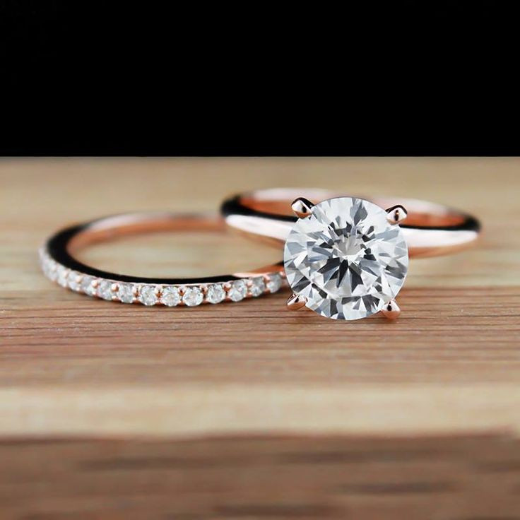 Traditional Wedding Bands  Rose Gold Engagement Rings