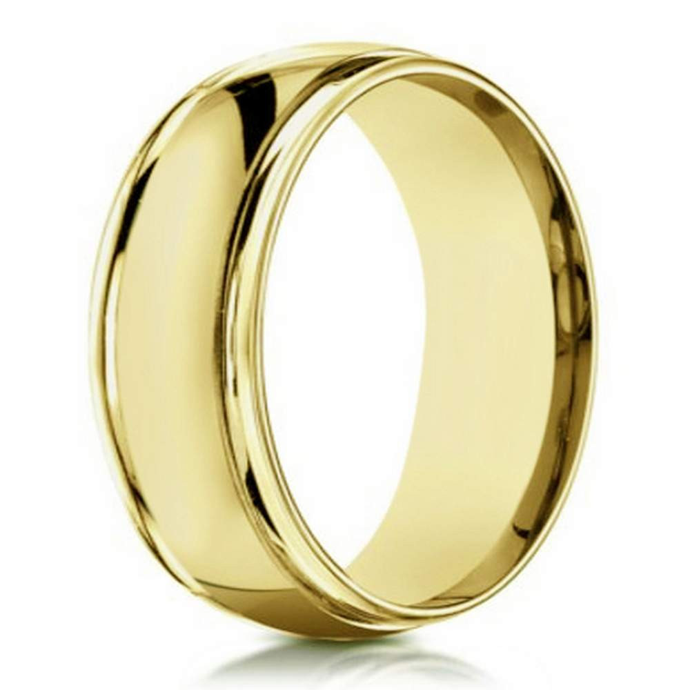 Traditional Wedding Bands  14 K yellow gold traditional wedding band for men
