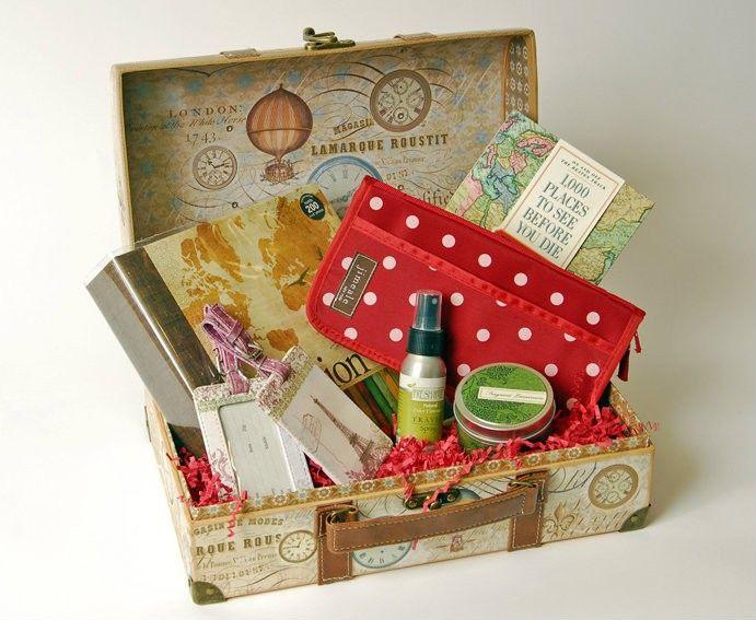 Travel Gift Basket Ideas  65 best Travel theme bridal shower images on Pinterest