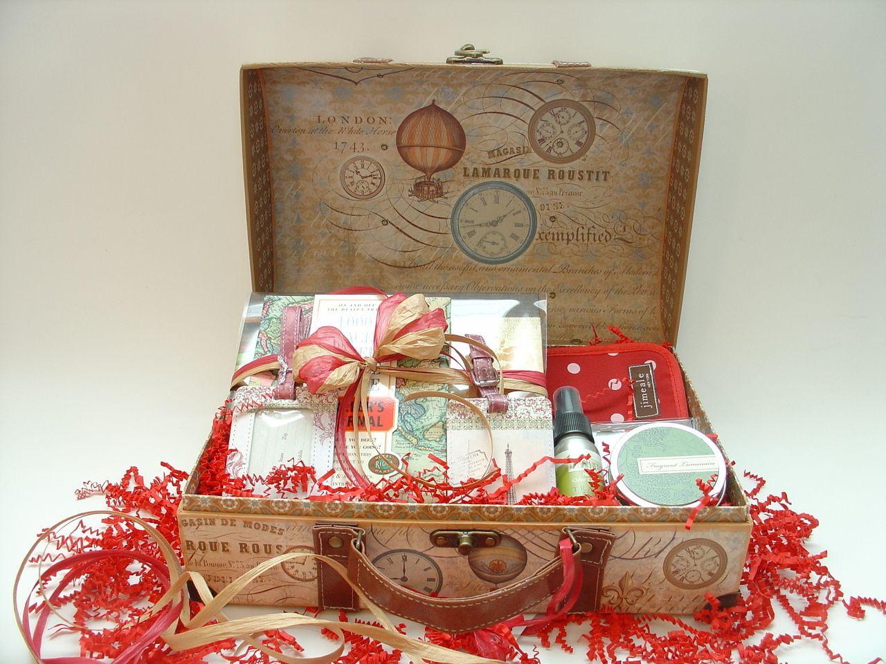 Travel Gift Basket Ideas  World Travel Gift Basket for Women