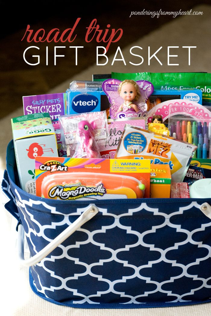 Travel Gift Basket Ideas  Road Trip Gift Basket