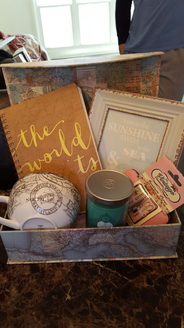 Travel Gift Basket Ideas  Traveling Gift Basket Creations by Me Pinterest