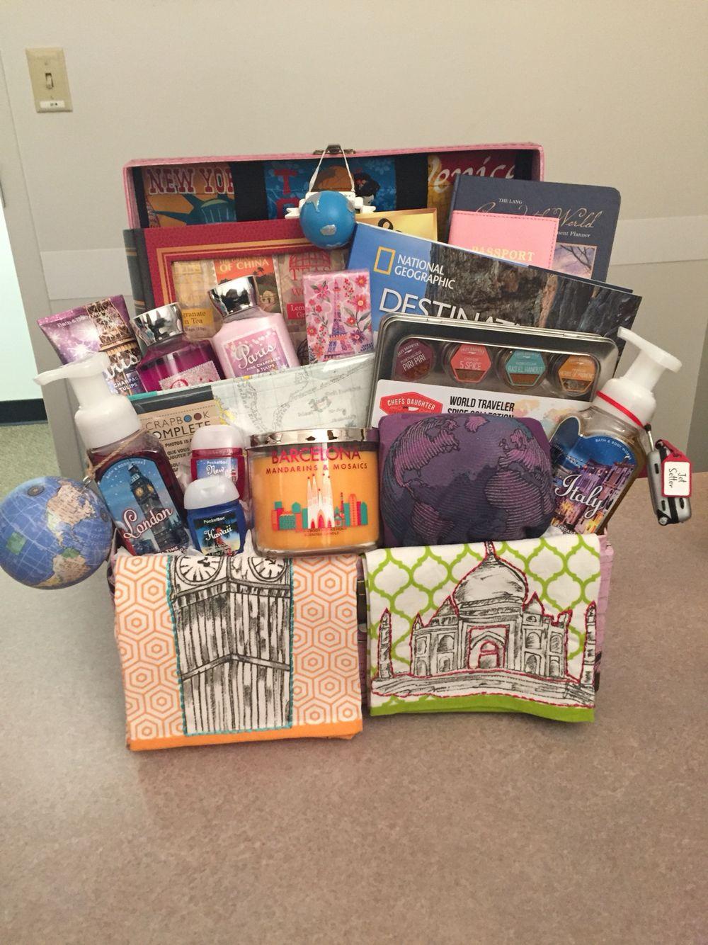 Travel Gift Basket Ideas  Travel inspired basket