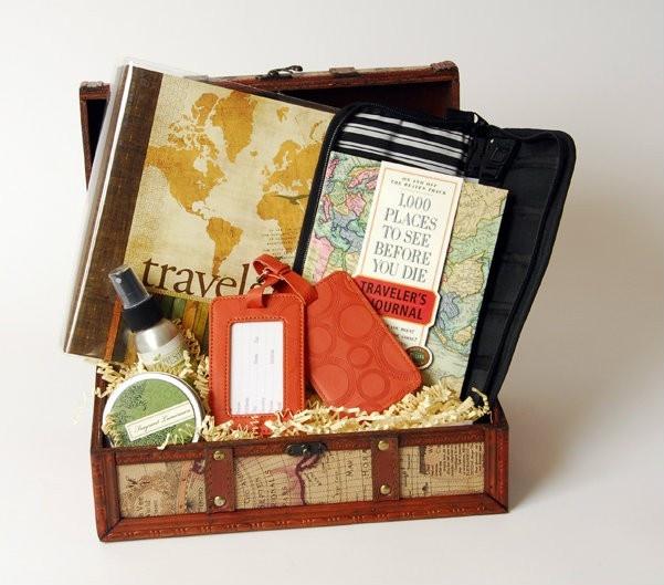 Travel Gift Basket Ideas  World Travel Gift Basket for Men