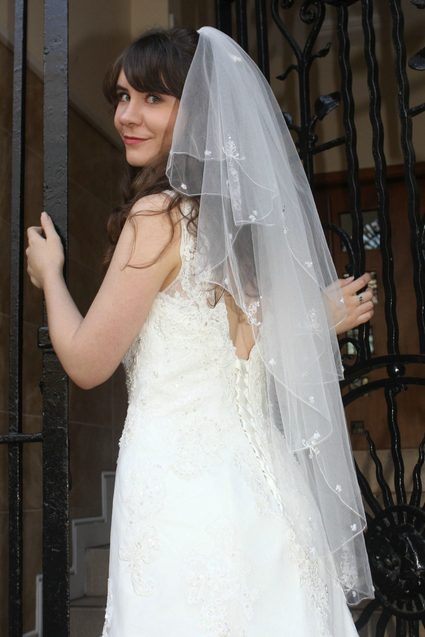 Uk Wedding Veils  Meredith mid length veil