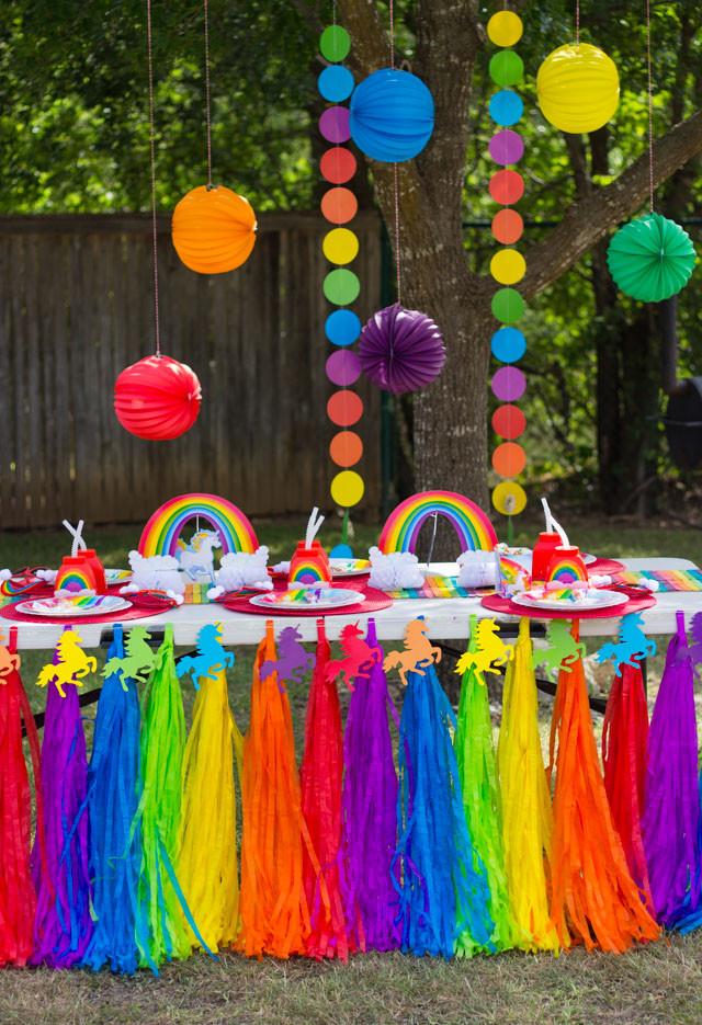 Unicorn And Rainbow Party Ideas  Hazel s Rainbow Unicorn Birthday Party Design Improvised