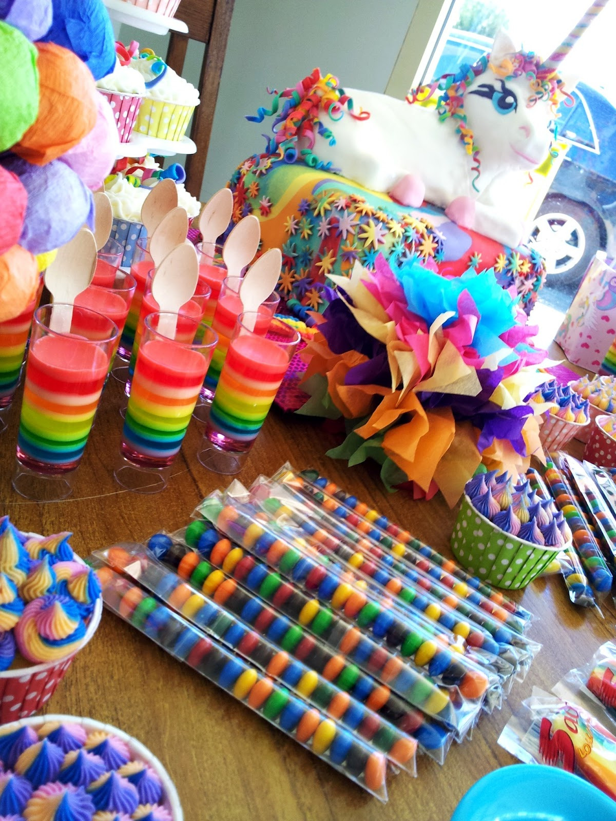 Unicorn And Rainbow Party Ideas  The Quick Unpick Five FIVE A party rainbows and a