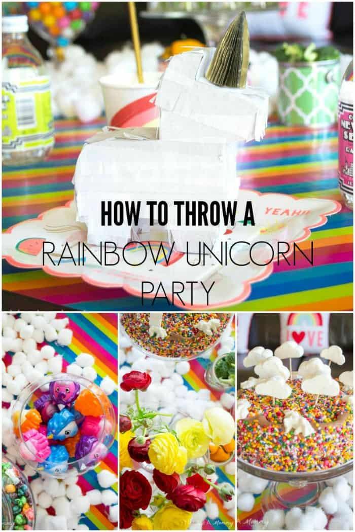 Unicorn And Rainbow Party Ideas  Rainbow Unicorn Party Ideas Moms & Munchkins