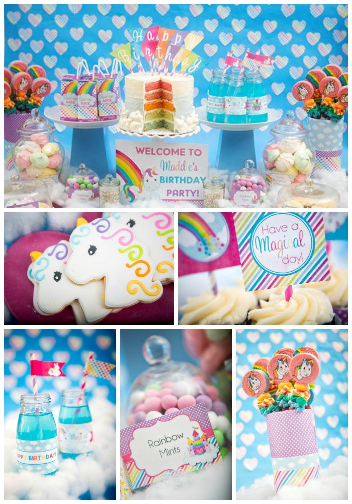 Unicorn And Rainbow Party Ideas  Rainbow Unicorn Party B Lovely Events