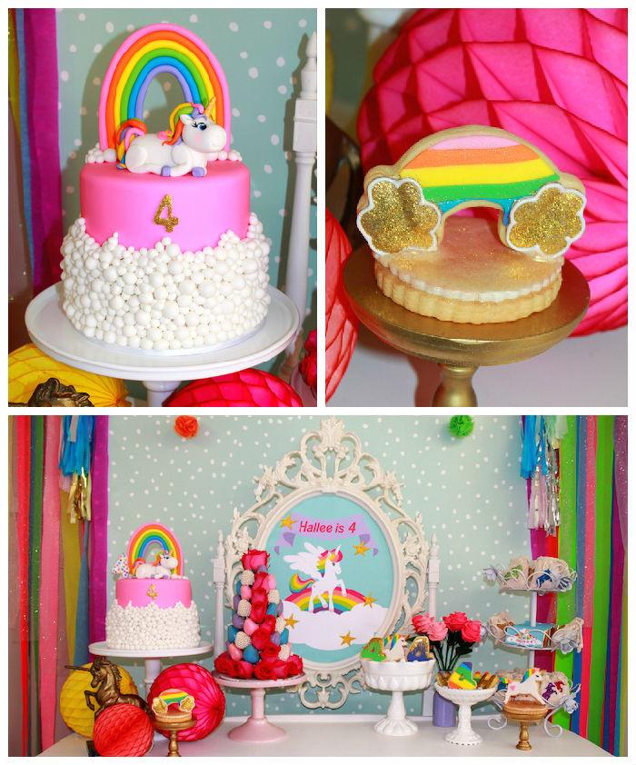 Unicorn And Rainbow Party Ideas  Kara s Party Ideas Rainbow Unicorn Themed Birthday Party