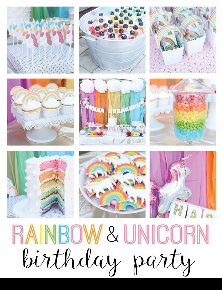 Unicorn And Rainbow Party Ideas  unicorn and rainbow birthday party