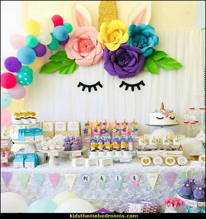 Unicorn And Rainbow Party Ideas  Decorating theme bedrooms Maries Manor unicorn party