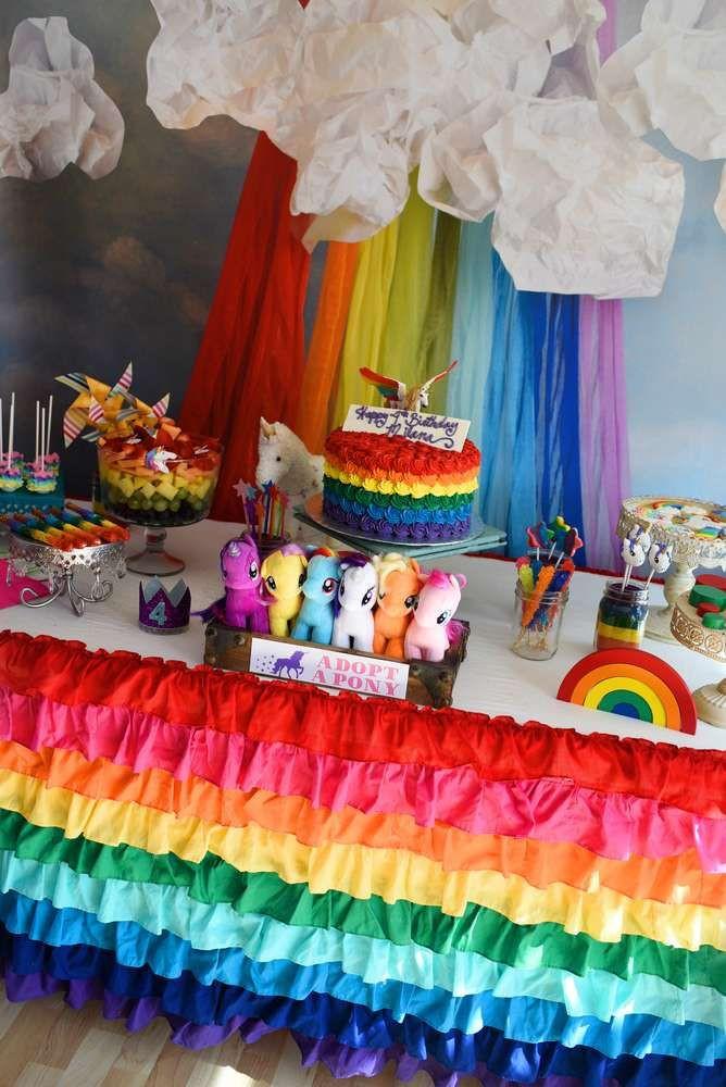 Unicorn And Rainbow Party Ideas  Rainbows and Unicorns Birthday Party Ideas
