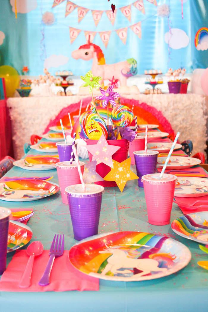 Unicorn And Rainbow Party Ideas  Kara s Party Ideas Rainbow Unicorn Birthday Party