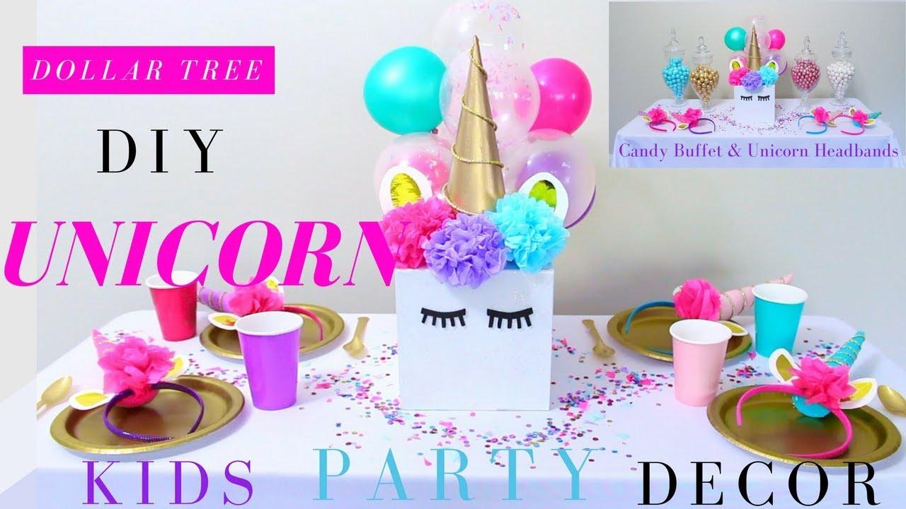 Unicorn Party Centerpiece Ideas  DIY Unicorn Party Ideas