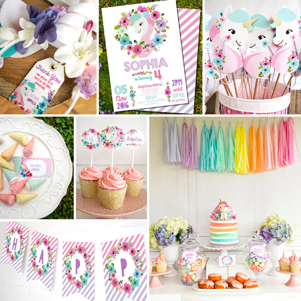 Unicorn Party Centerpiece Ideas  Unicorn Birthday Party Decorations Unicorn Party Decor