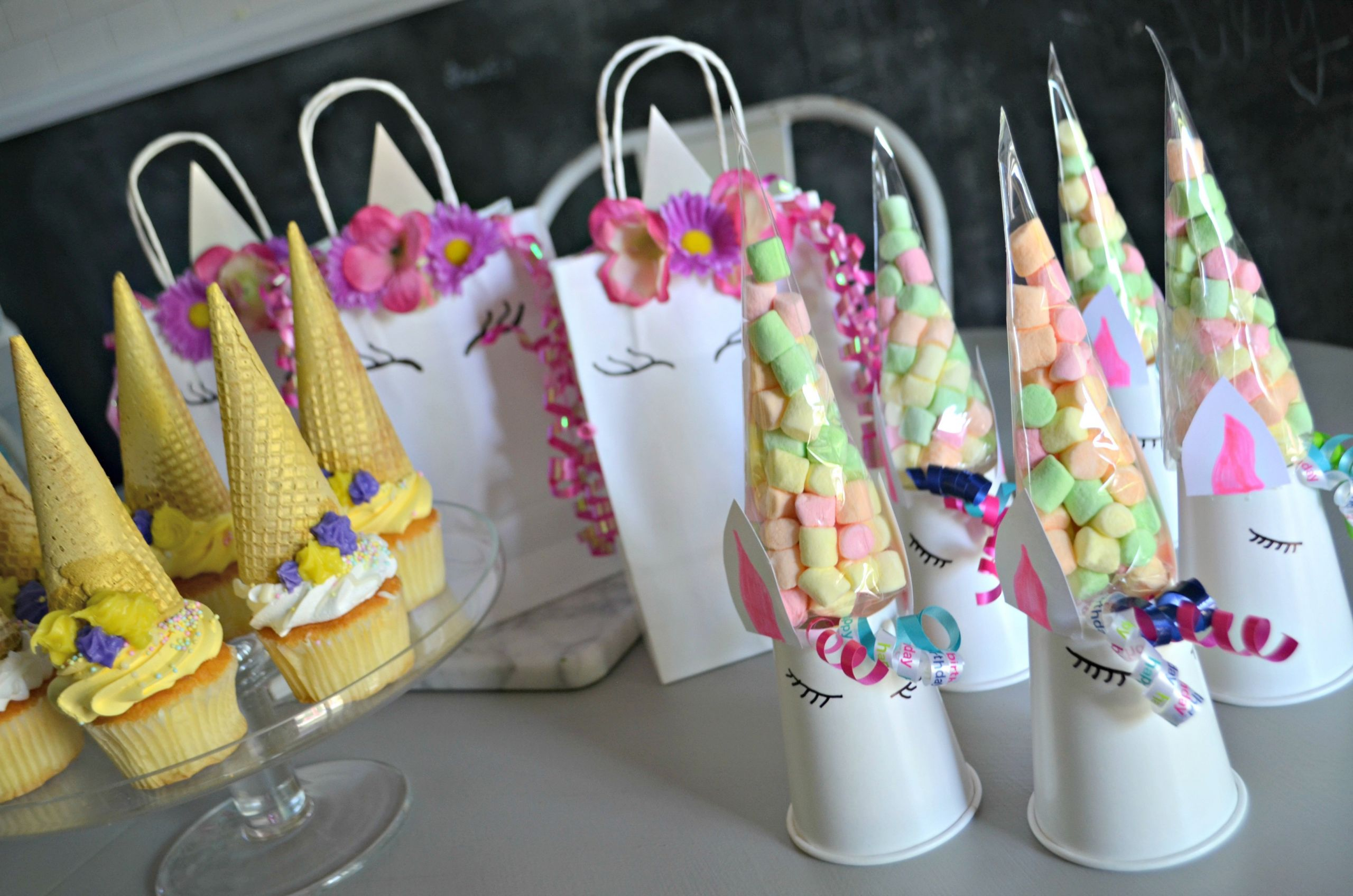 Unicorn Party Centerpiece Ideas  Make These 3 Frugal Cute and Easy DIY Unicorn Birthday