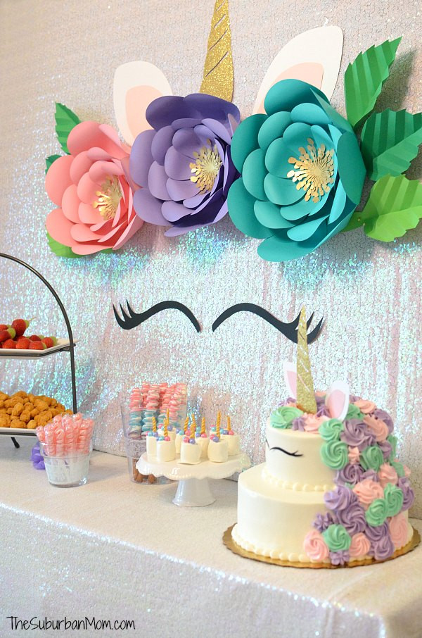 Unicorn Party Centerpiece Ideas  Unicorn Birthday Party Ideas Food Decorations