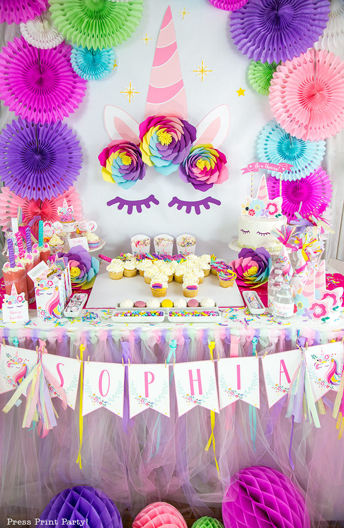Unicorn Party Centerpiece Ideas  Truly Magical Unicorn Birthday Party Decorations DIY