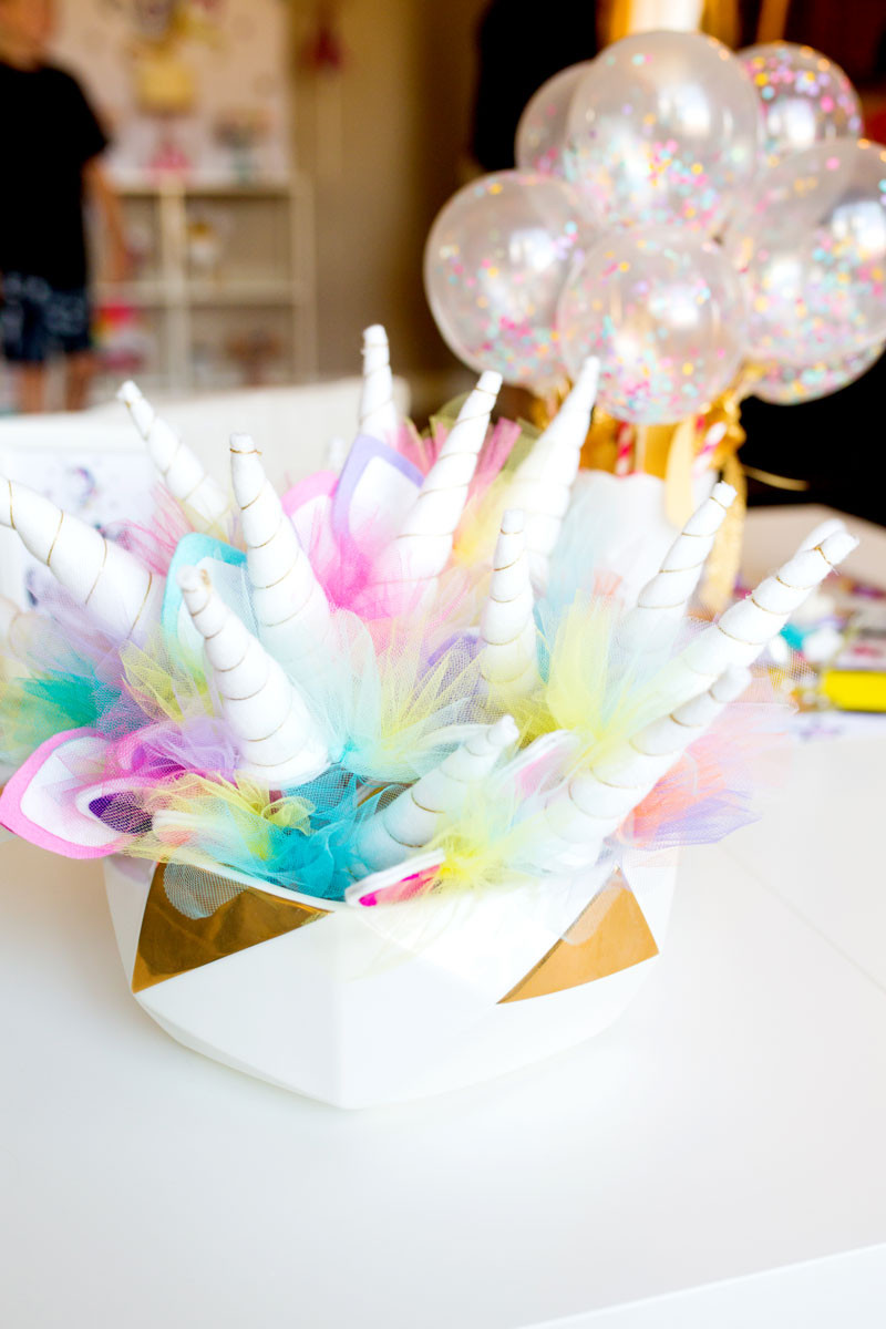 Unicorn Party Centerpiece Ideas  Unicorn Birthday Party Decorations by Modern Moments