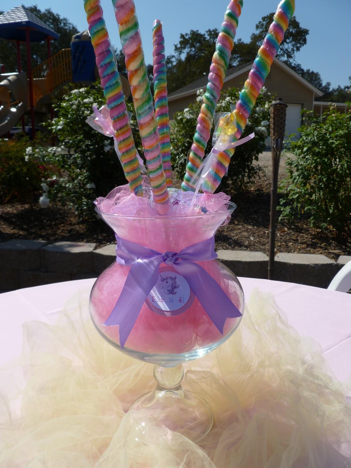 Unicorn Party Centerpiece Ideas  Spoonful of Sugar Custom Candy Buffets Whimsical Unicorn