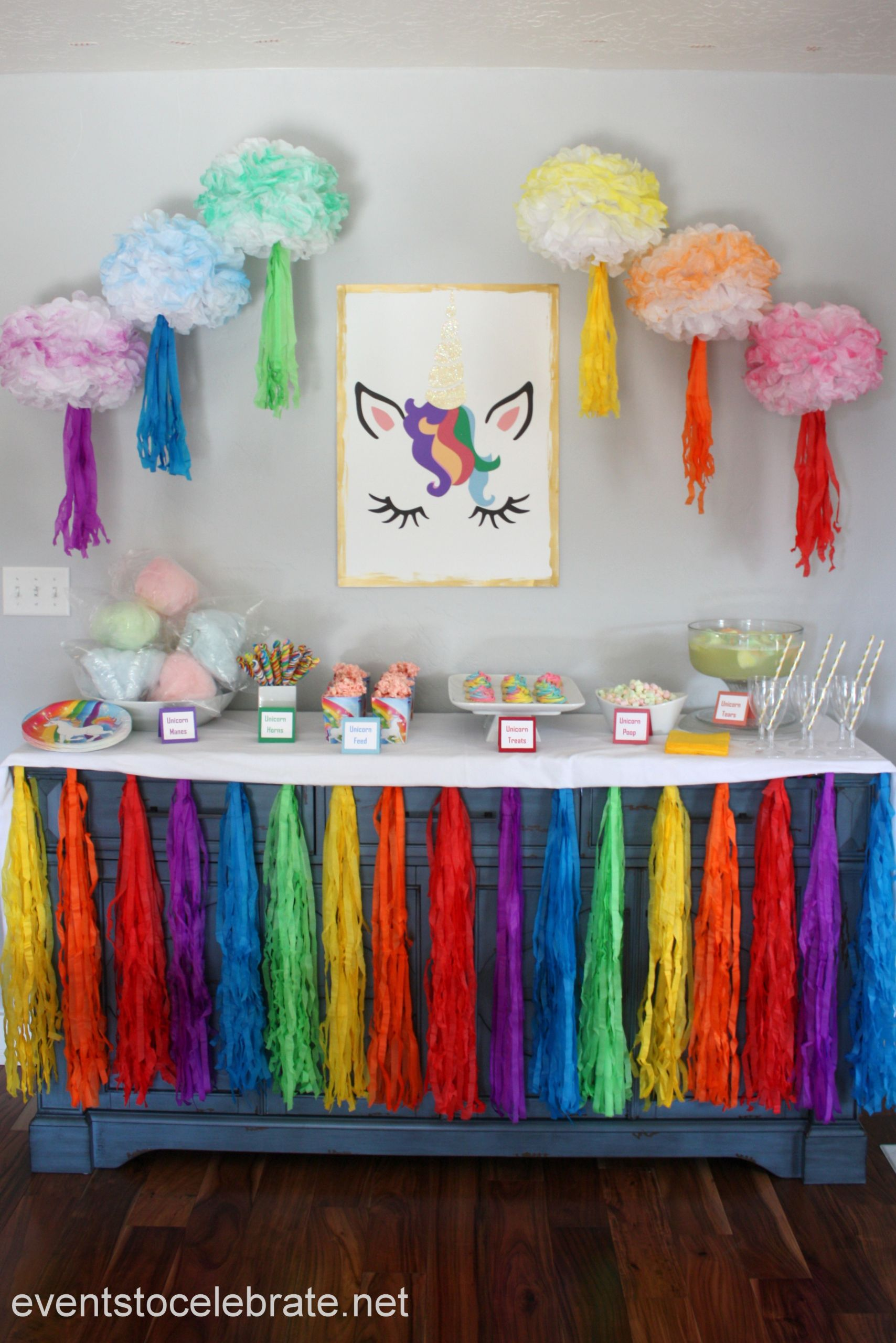 Unicorn Party Centerpiece Ideas  Unicorn Party Decorations and Food