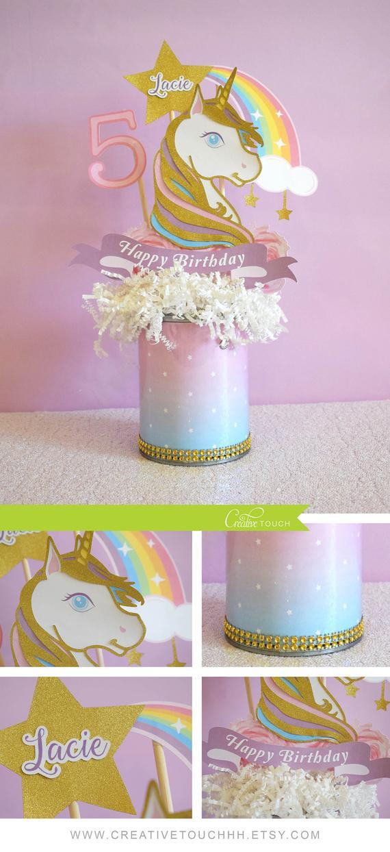 Unicorn Party Centerpiece Ideas  Unicorn Centerpiece Unicorn Birthday Unicorn Party Unicorn