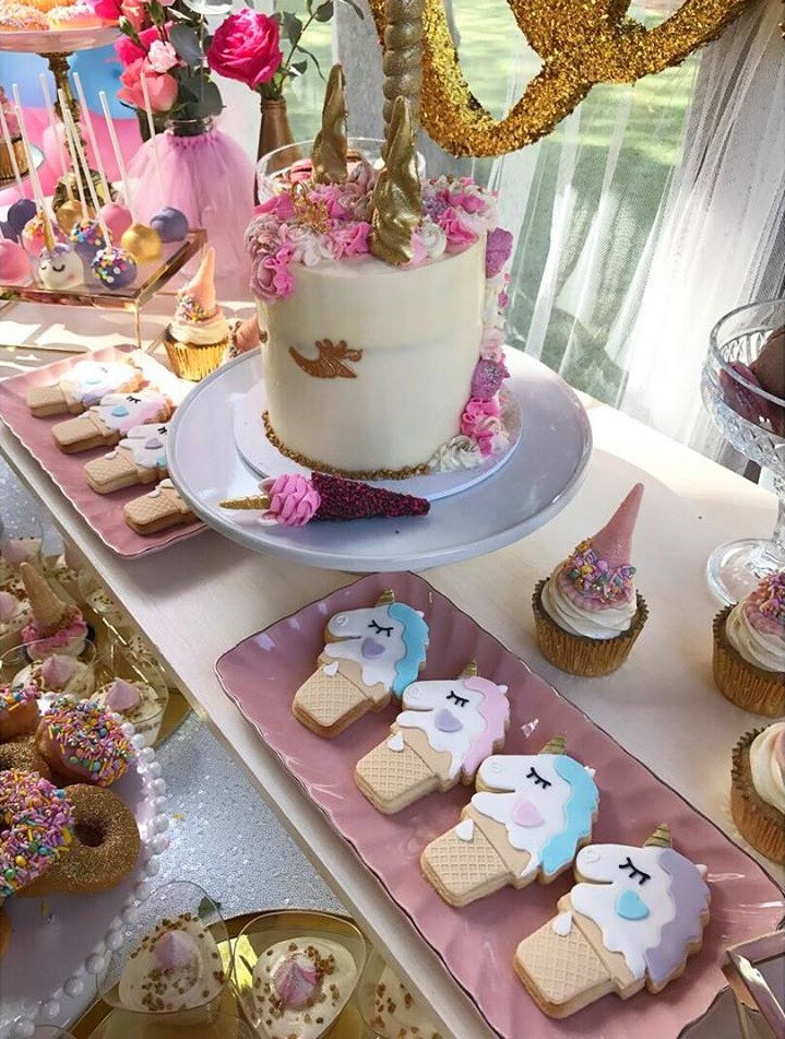 Unicorn Party Theme Food Ideas  Magical Unicorn First Birthday Party Birthday Party
