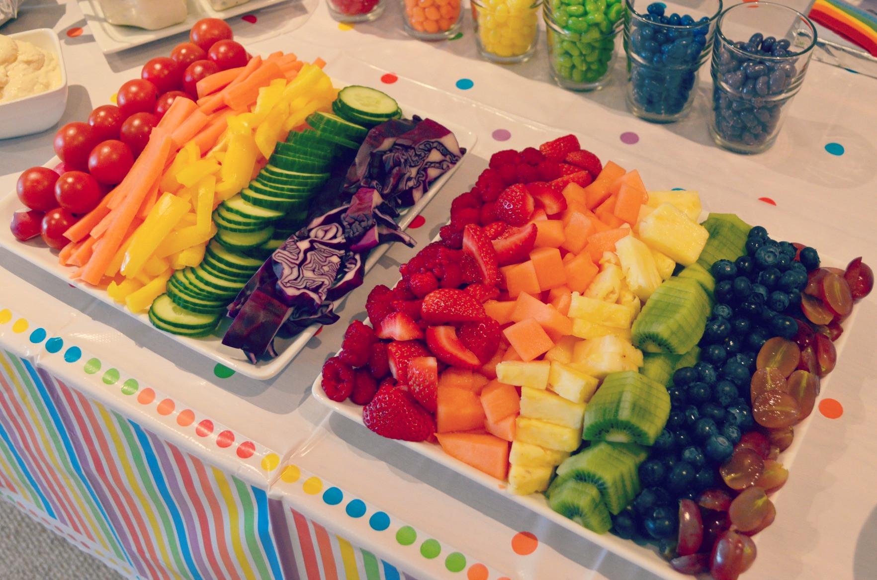Unicorn Party Theme Food Ideas  rainbow themed party