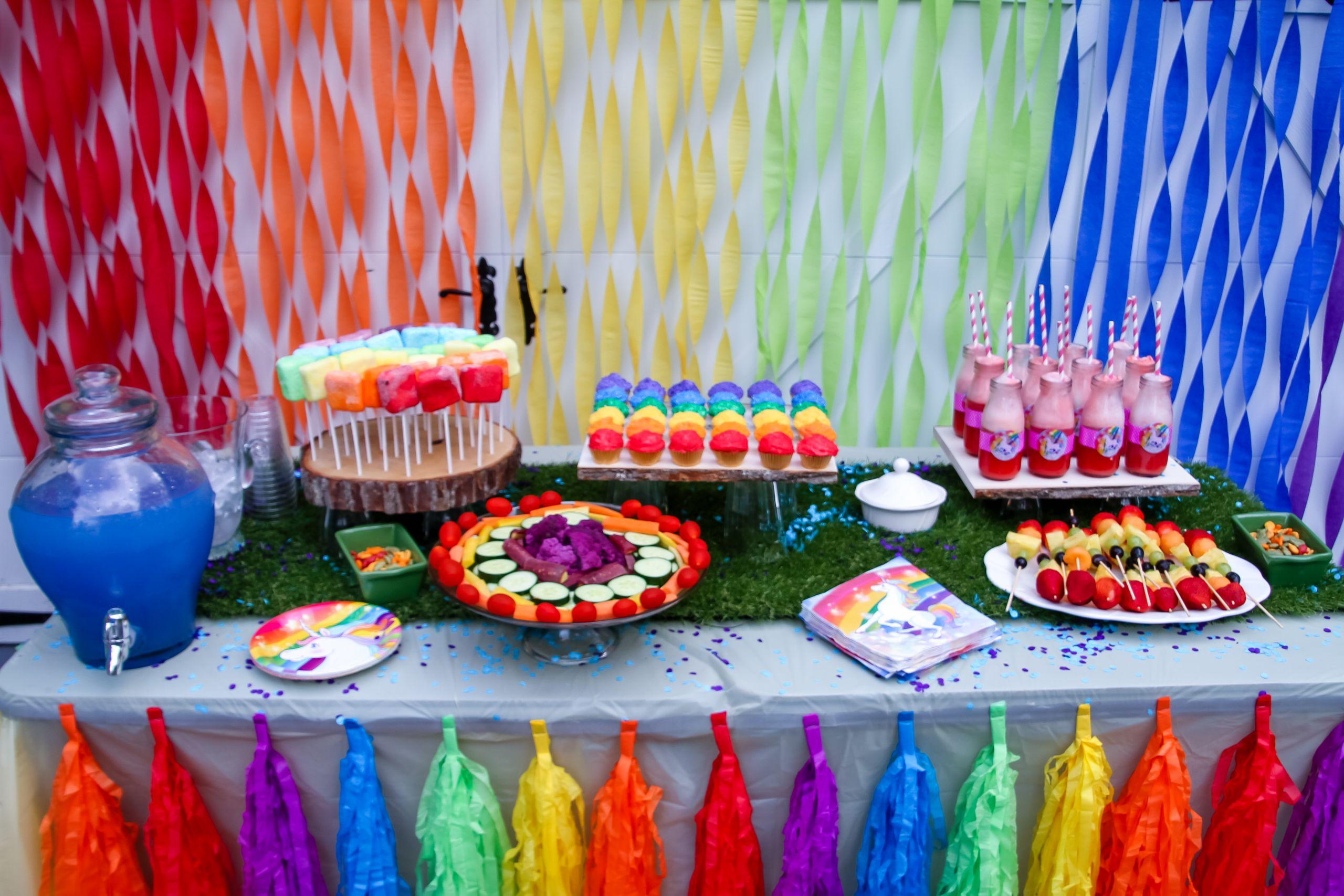 Unicorn Party Theme Food Ideas  Throw the ultimate unicorn rainbow unicorn party for a
